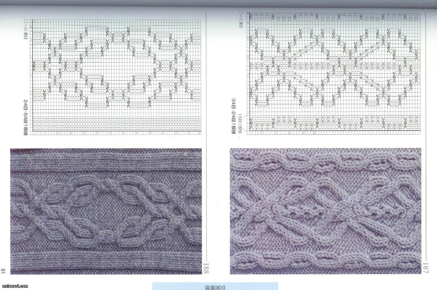 Схема вязания японского арана