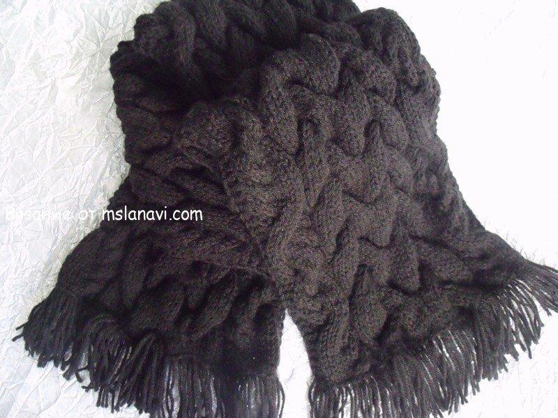 Вязание спицами шапка-шарф. vyazanie-spicami-shapka-sharf.