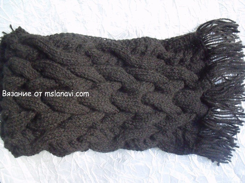 Вязание для мужчин шарф схемы 458