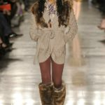 Вязаная кофта с мехом, осень-зима 2011
