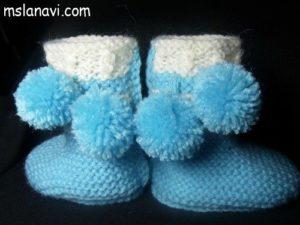 Пинетки спицами для малышей