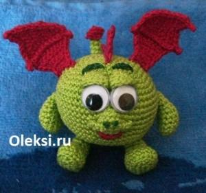 Вязаный Дракончик Хрум от Олекси.ру