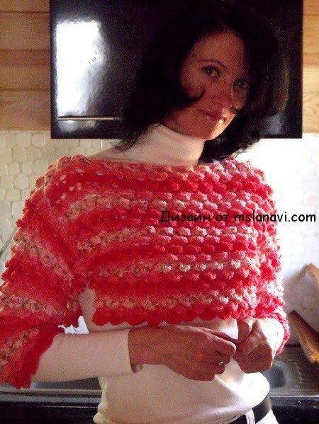 """Вязаный пуловер спицами """"Чешуйка"""""""