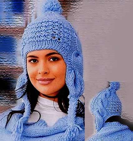 вязания шапок с ушками: