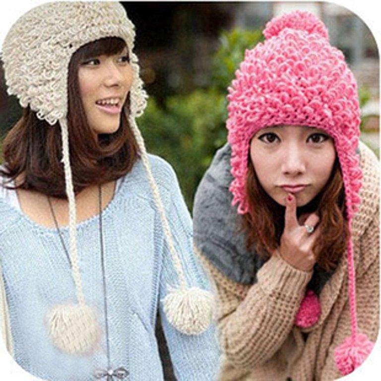 Вязание женские шапки с ушками