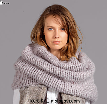 Вязаный шарф снуд от KOOKAÏ