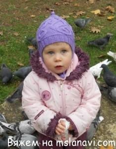 вязание детям шапки