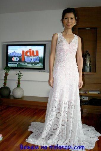 А как вам вязаное свадебное