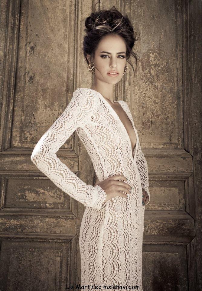 схемы вязанное платье свадебное