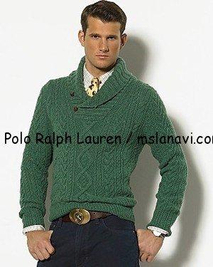 мужской вязаный свитер схема