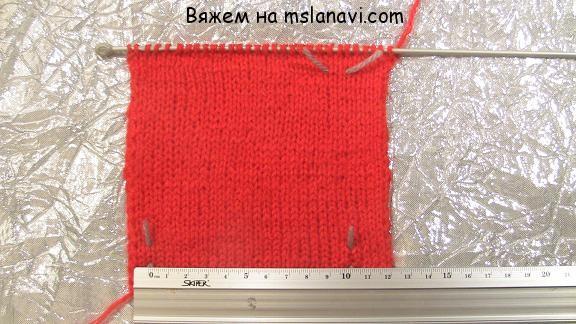как рассчитать петли при вязании спицами