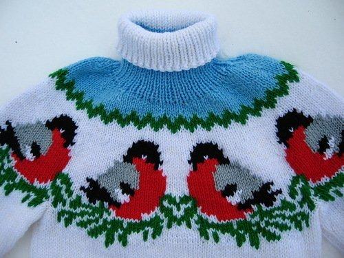 вязание детский свитер 1