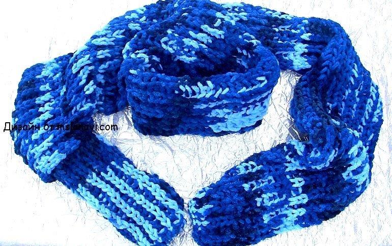 вязание спицами шарф для начинающих