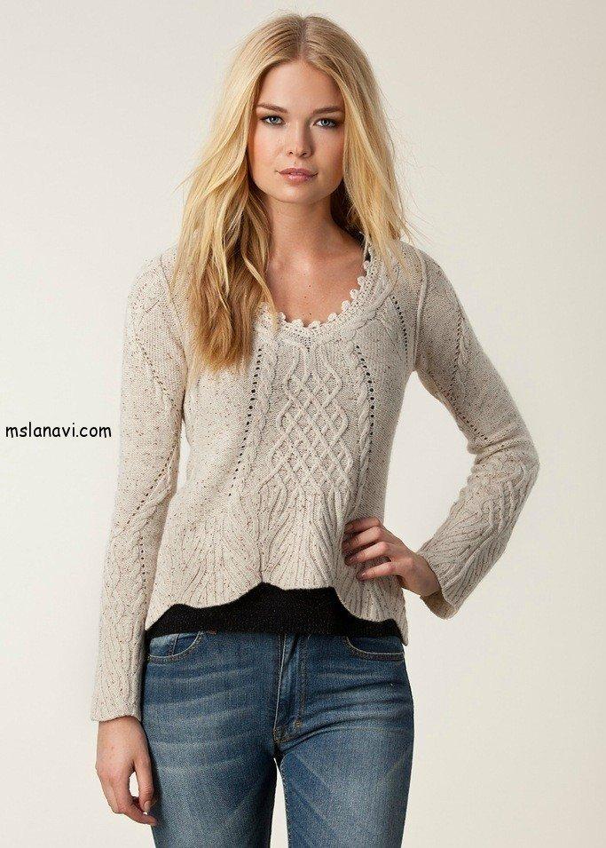 вязаные пуловеры спицами схемы