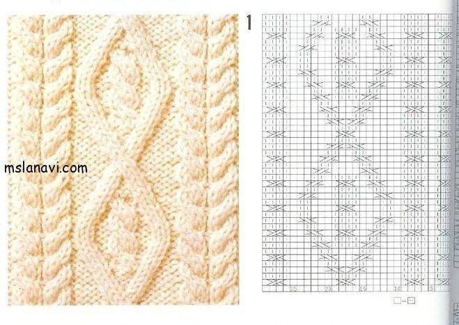 вязаный пуловер схемы 2