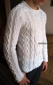 мужской вязаный пуловер 0 2