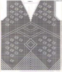 Ажурный-пуловер-спицами-схемы