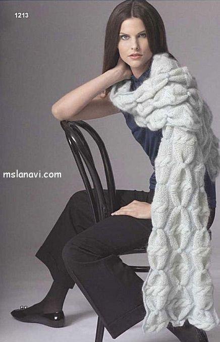 Спицы: круговые 4 и 5. Схемы вязания шарфа.  Пряжа: Gedifra Easy Soft (48% мохера, 10% кашемира, длина примерно 150...