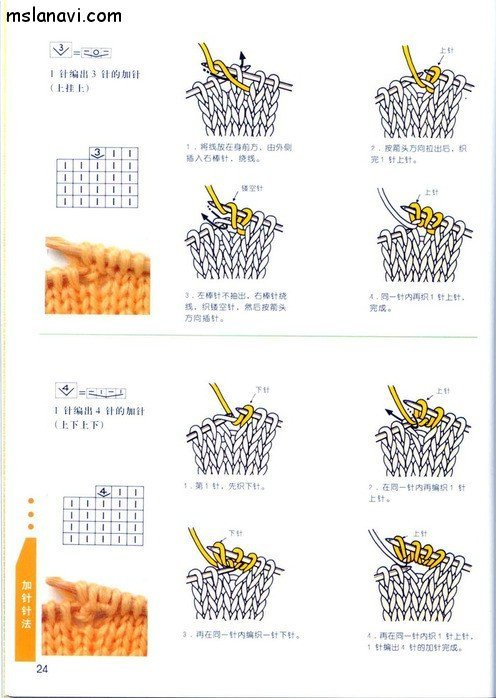 вязание японские журналы, условные обозначения, 15