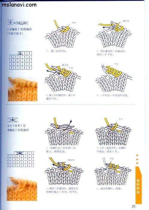 вязание японские журналы, условные обозначения, 16