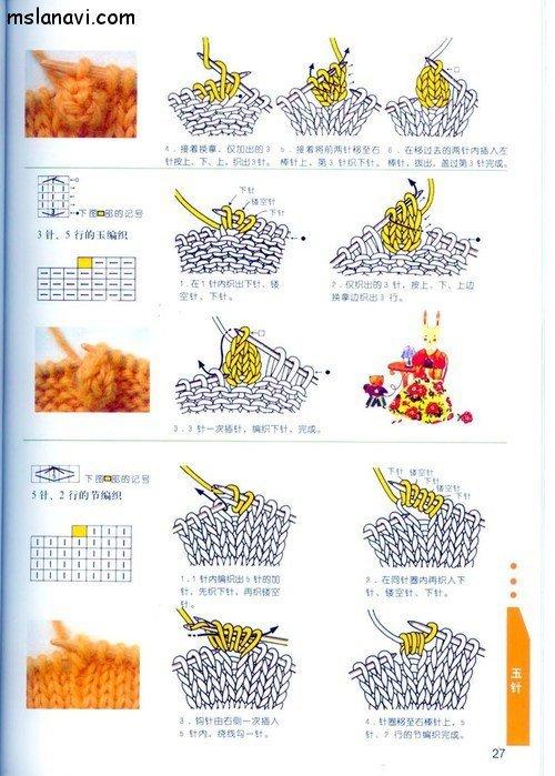 вязание японские журналы, условные обозначения, 18