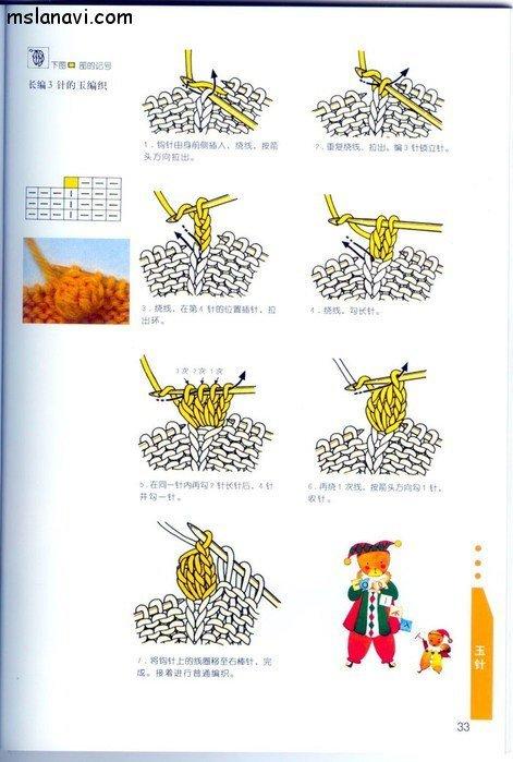 вязание японские журналы, условные обозначения, 24