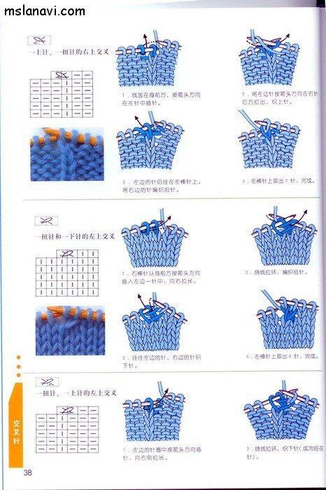 вязание японские журналы, условные обозначения, 27