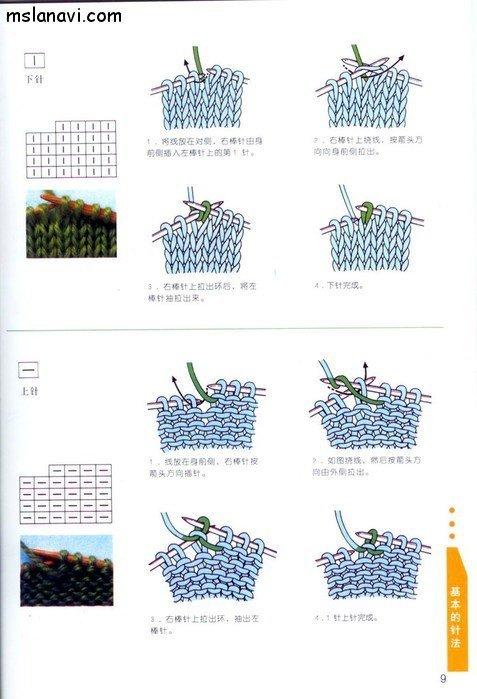 вязание японские журналы, условные обозначения, 3