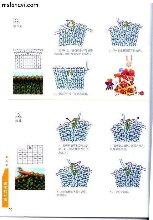 вязание японские журналы, условные обозначения, 4