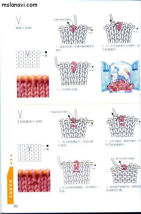 вязание японские журналы, условные обозначения, 47