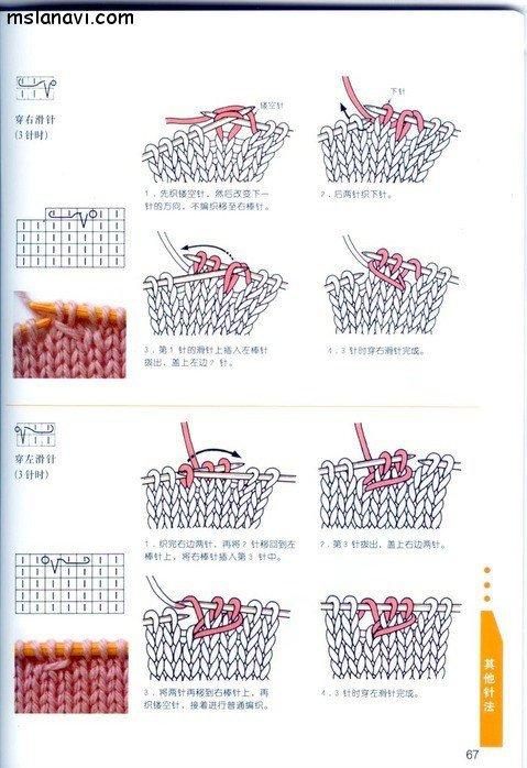 вязание японские журналы, условные обозначения, 54