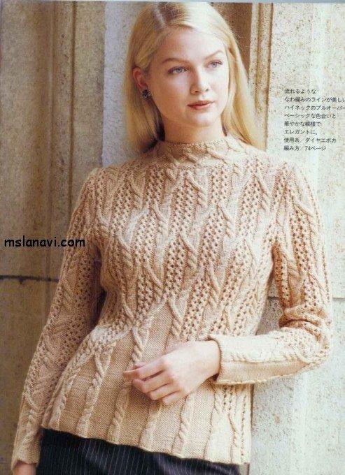 Вязание аранов для пуловера 1