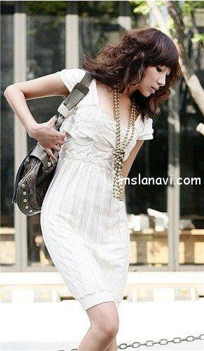 вязаные платья спицами фото 3