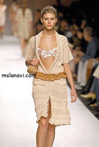 вязаные платья спицами фото 5