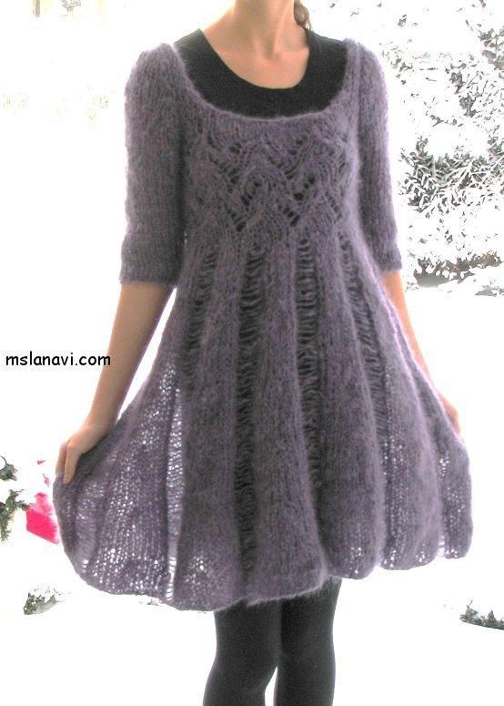 вязаные платья спицами фото 6