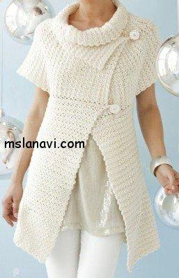 вязаные платья спицами фото 7