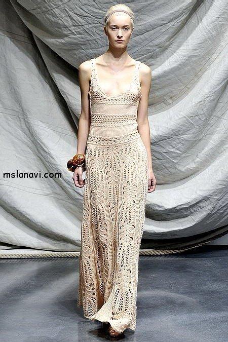 вязаные платья спицами фото Graeme Black Spring 2009