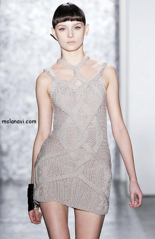 вязаные платья спицами фото Jen Kao