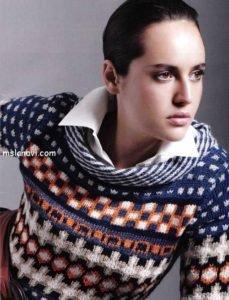 Жаккардовый пуловер