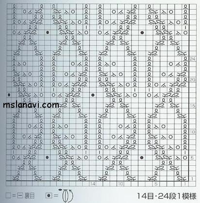 ажурный узор спицами схема
