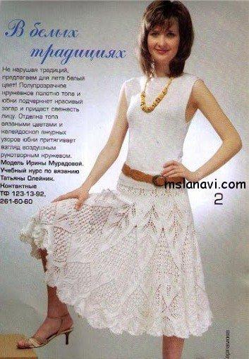 Вязаная юбка спицами, схемы и