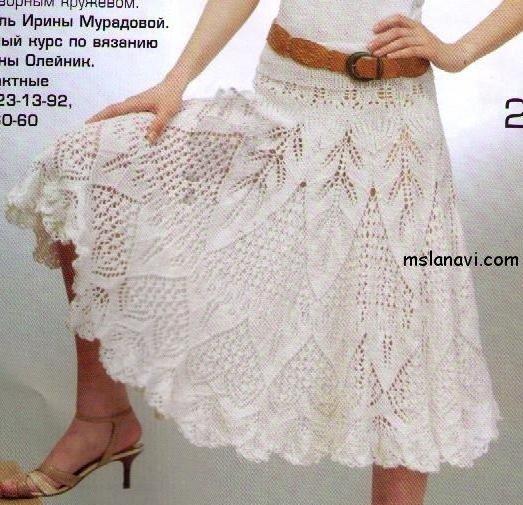 Красивейшая вязаная юбка и