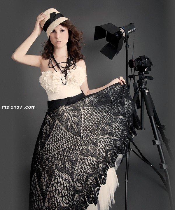 Вязаная юбка спицами или вязаное платье