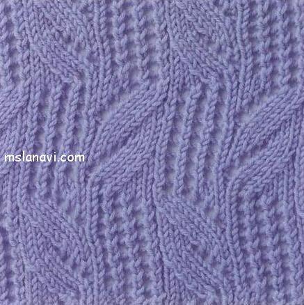 Узор спицами – схема вязания: