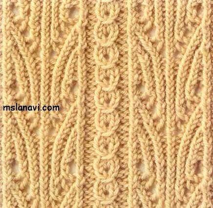 ажурный узор спицами со схемой
