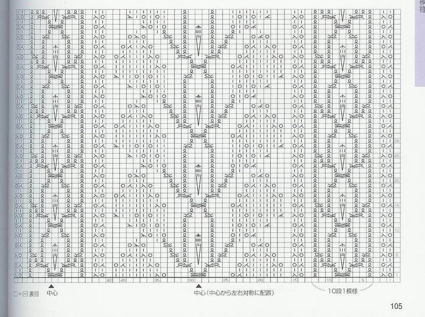 Описание схем вязания спицами из японских журналов 444