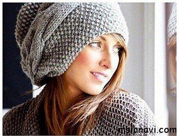 Узоры спицами для шапок: вязание по примеру схем 48