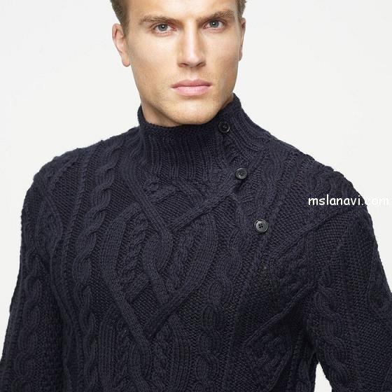 Вязаный пуловер для мужчин от