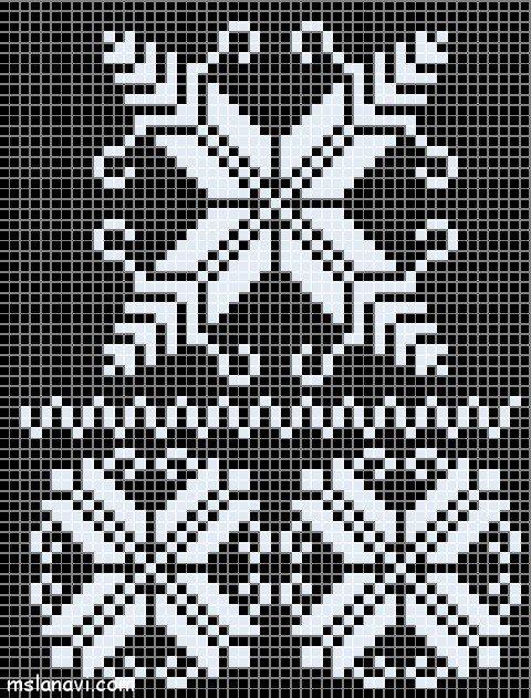 жаккардовый пуловер узоры и