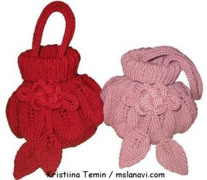 вязаные сумки спицами с описанием